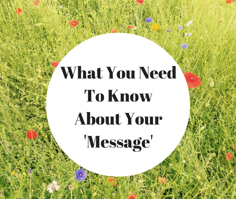 What You Need To Know About Your 'Message'