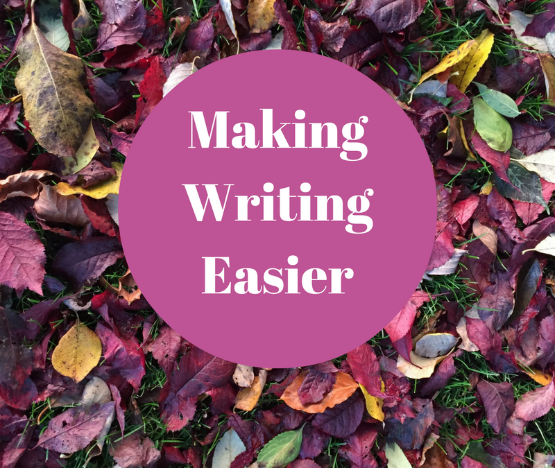 How To Make Writing Easier